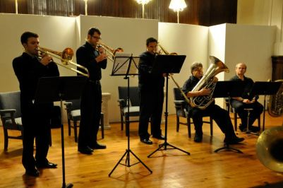 BPO low brass featured during a presentation by tubist Don Harry