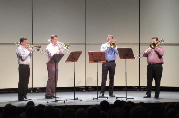 2015 Sun Valley Summer Symphony Musicians Choice Chamber Concert, Bruckner motets -- Tim Higgins, Gord Wolfe, myself, Jeff Dee