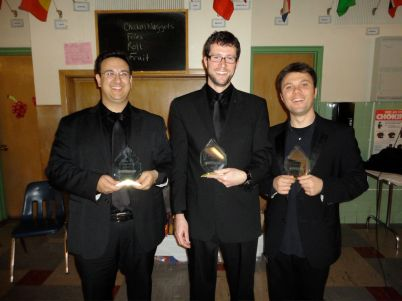 the Amherst Symphony (NY) hosted us each as soloists, and gave us handsome awards for it!