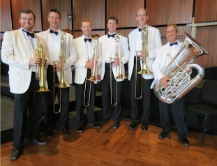 Sun Valley Summer Symphony 2012 Low Brass Section (L-R) Tim Owner, Gordon Wolfe, Kyle Covington, Tim Smith, Darren McHenry, Peter Wahrhaftig