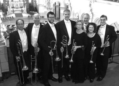 Music of the Baroque Holiday Brass and Choral concerts, Chicago 2013 (L-R) Jared Rodin, Randy Hawes, myself, Jay Evans, Barbara Butler, Charles Geyer, Jennifer Marotta, Scott Quackenbush