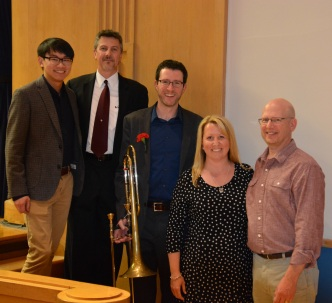 """some of the key players in the Viet Cuong """"Hymns and Howls"""" consortium: Viet Cuong, Pim Liebman, Evonne Michel, and Chris Gawlak"""